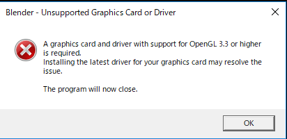 A graphics card and driver with support for OpenGL 3.3 or higher is required
