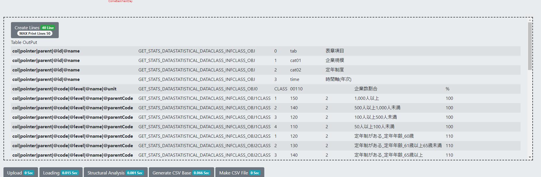 JsonToCSV Jsonファイルを人間が見やすいCSV形式に変換してくれるオンラインコンバーター