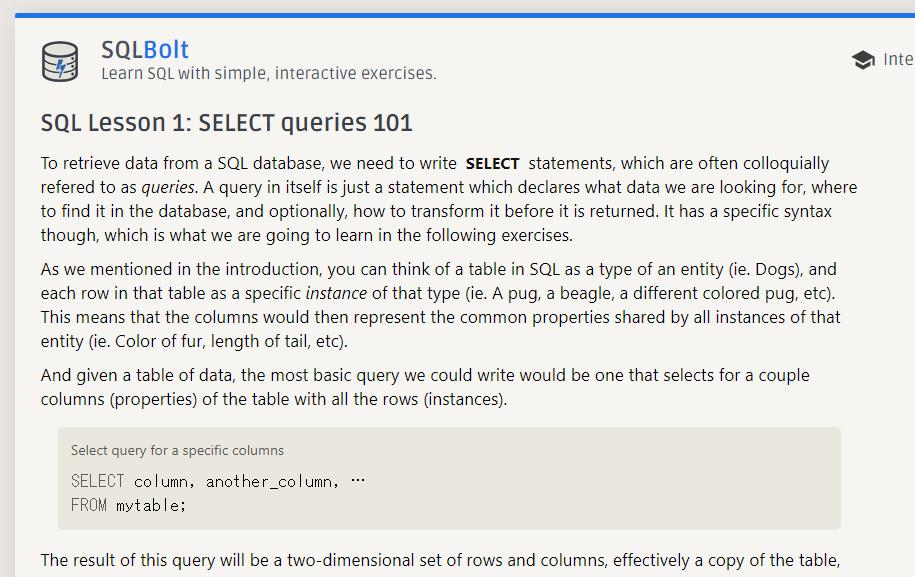 SQL ZOO
